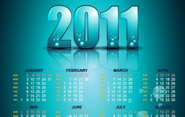 Year 2011 Calendars 22 Vector Free Calendar Design Calendar