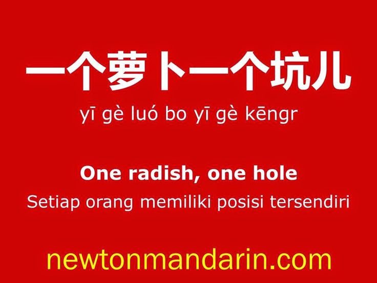 newtonmandarin.com: One radish, one hole