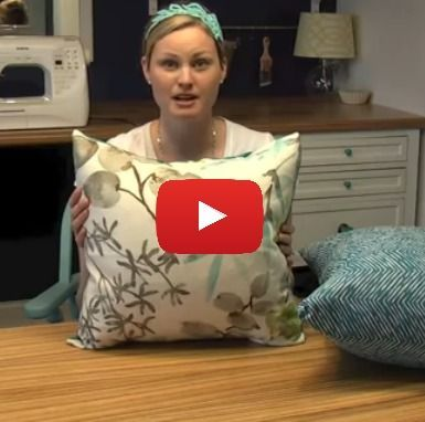 Learn to make 2 types of envelope pillow covers with this easy video tutorial.