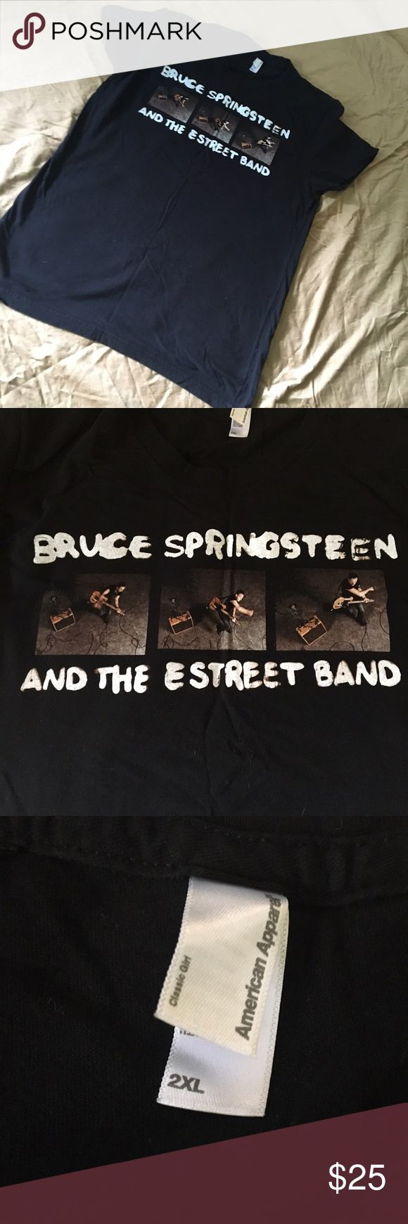 Official BRUCE Springsteen tour tee Circa 2012/13? tour. Purchased at Philly show. Make an offer! 30% off bundles of two or more! American Apparel Tops Tees - Short Sleeve