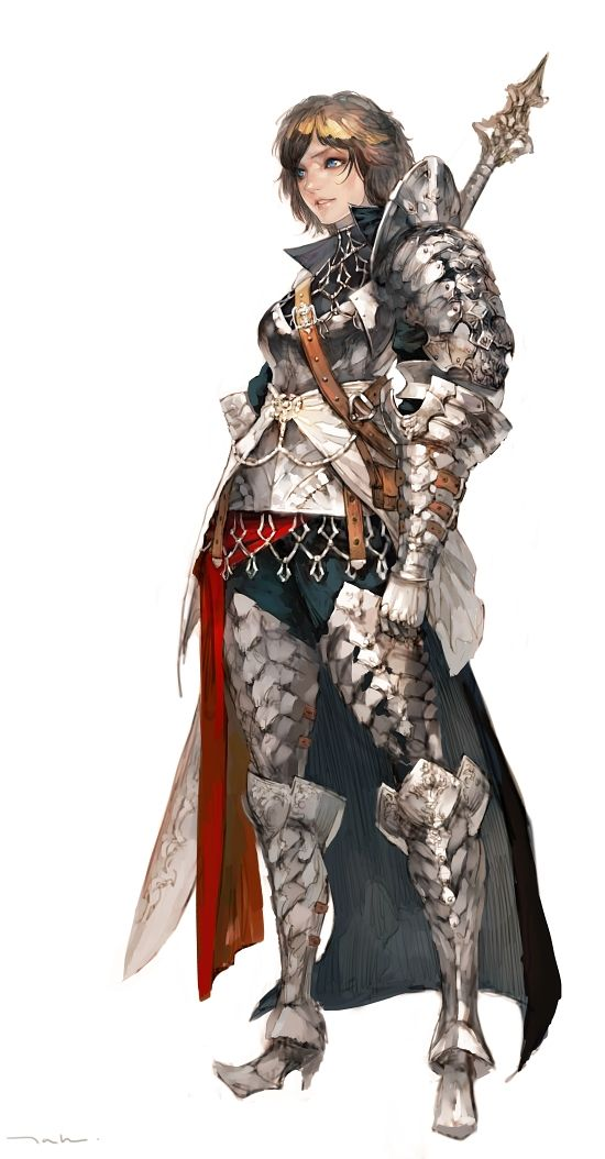 knight by tahra armor clothes clothing fashion player character npc | Create your own roleplaying game material w/ RPG Bard: www.rpgbard.com | Writing inspiration for Dungeons and Dragons DND D&D Pathfinder PFRPG Warhammer 40k Star Wars Shadowrun Call of Cthulhu Lord of the Rings LoTR + d20 fantasy science fiction scifi horror design | Not Trusty Sword art: click artwork for source