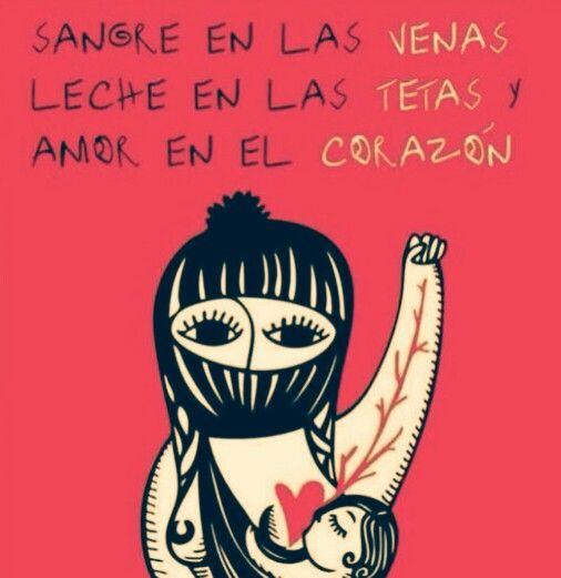 Sangre en las venas, leche en las tetas y amor en el corazón #lactancia zapatista