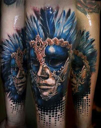 17 best images about tattoos masquerade on pinterest for Mardi gras mask tattoo