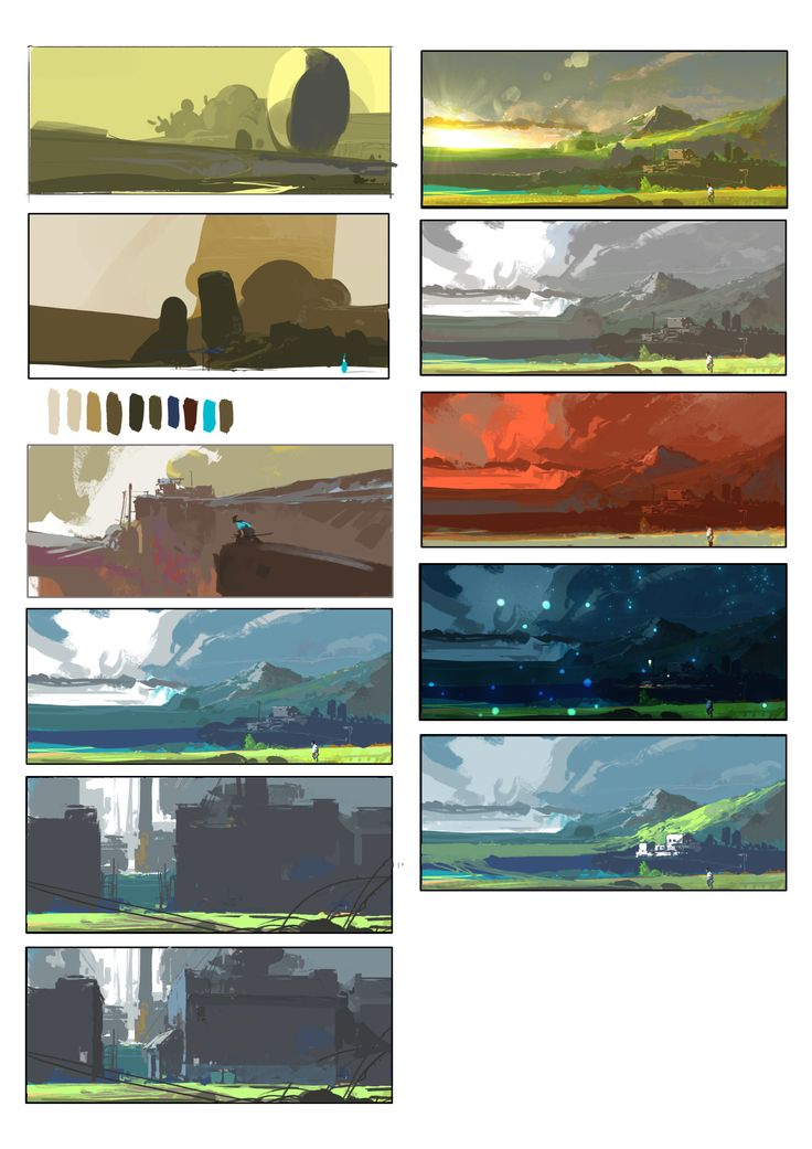 ArtStation 143, su jian Art background, Environment