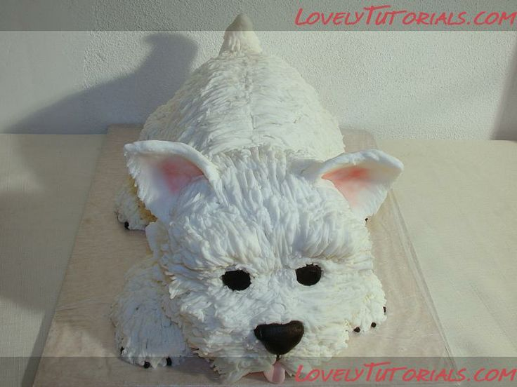 Digging Dog Cake Decoration : 3? ?????? ?? -carved terrier dog cake tutorial - ?????? ...