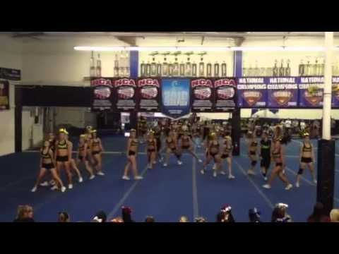 The actual routine doesn't start until 1:50. This is one of the coolest cheer routines I have ever seen!