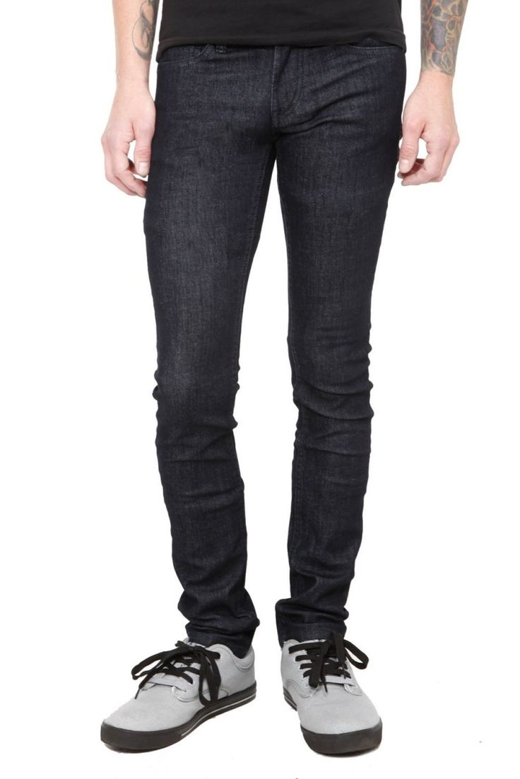 Rude Black Skinny Jeans Men