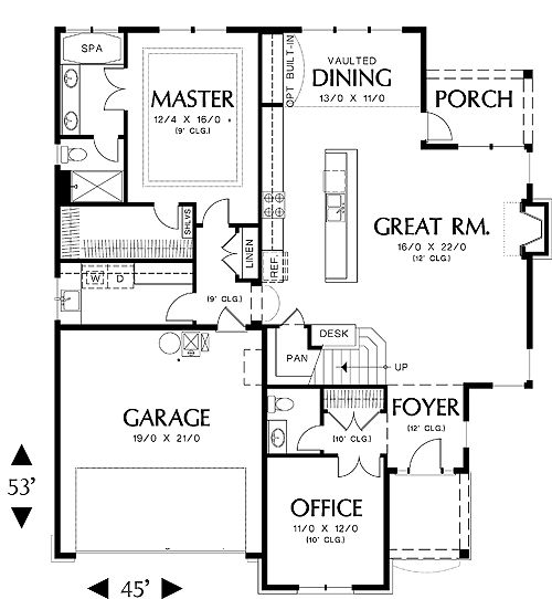 House Plan: HHF-5269, 2 story, 2080 total square footage - Direct from the Designers