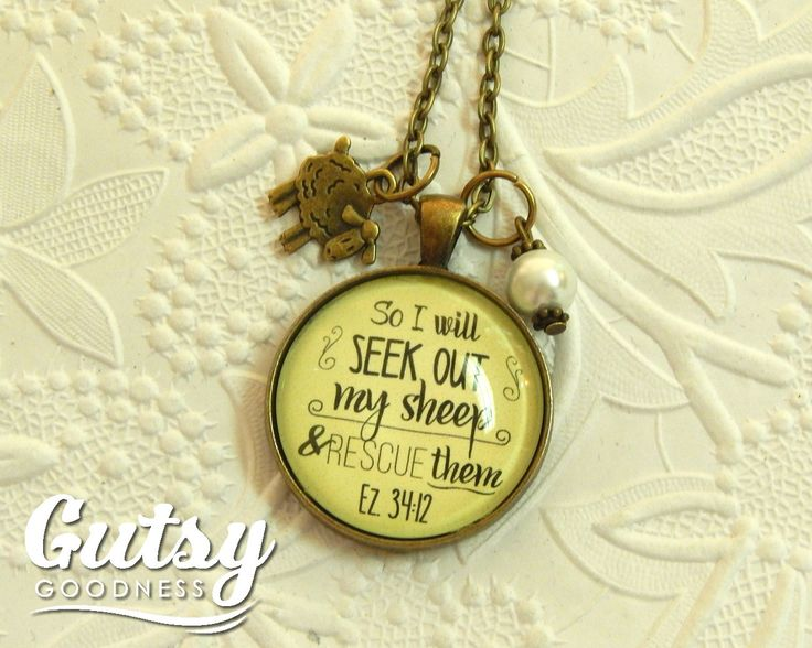 207 best gift ideas images on pinterest bible verses scripture my newest creation makes a great so i will seek out my sheep and rescue them scripture bible verse faith necklace sheep charm christian gift for women usd negle Gallery