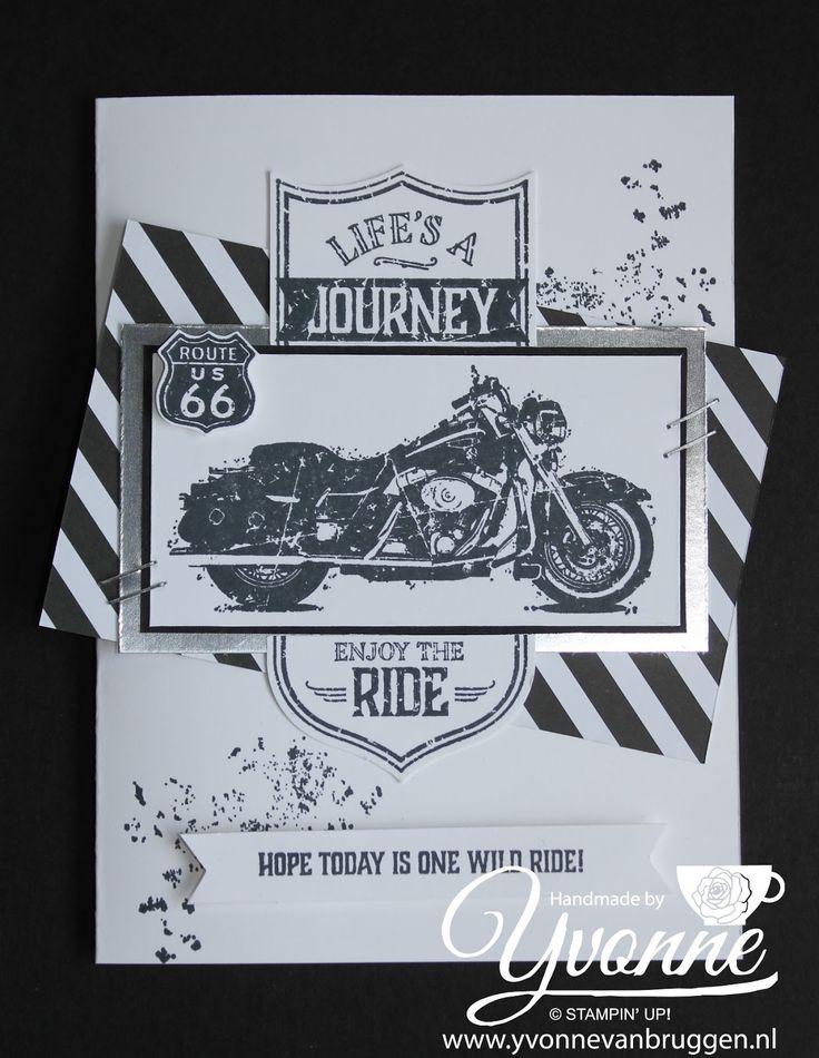 stampin up bestellen, one wild ride, motor kaart, vaderdag