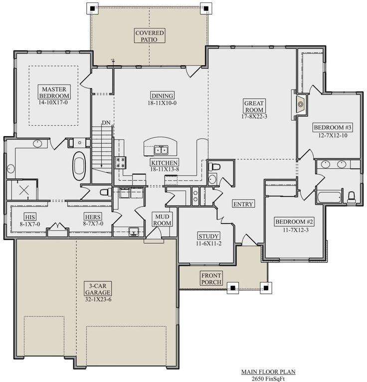 Craftsman Plan: 2,650 Square Feet, 3 Bedrooms, 2.5…