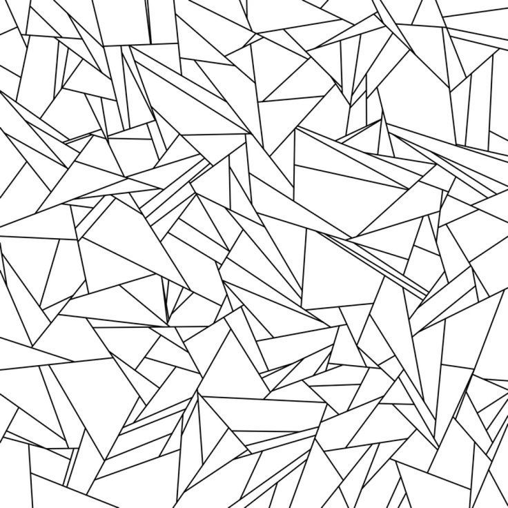 Broken Glass Tessellation Coloring Page Free Printable For