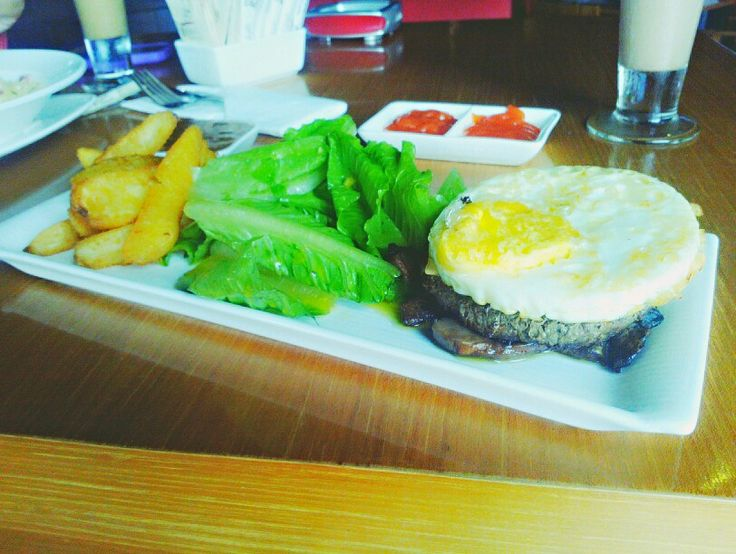 Burger Steak with Potato Wedges...