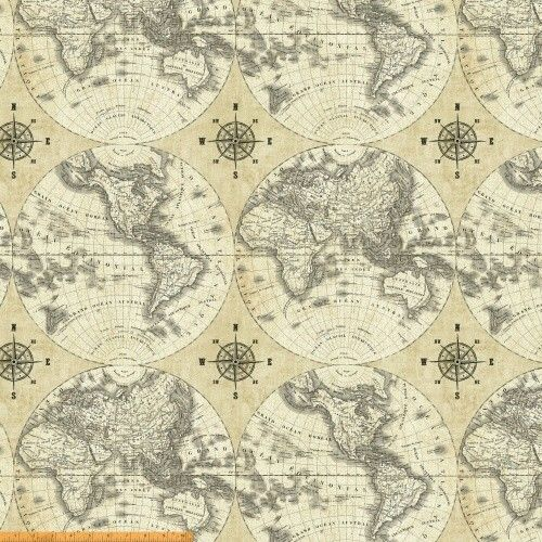 48 best office images on pinterest world maps antique maps and world maps multi by sue schlabach for windham fabrics world maps is a collection by sue schlabach for windham fabrics this fabric features vintage flat publicscrutiny Gallery