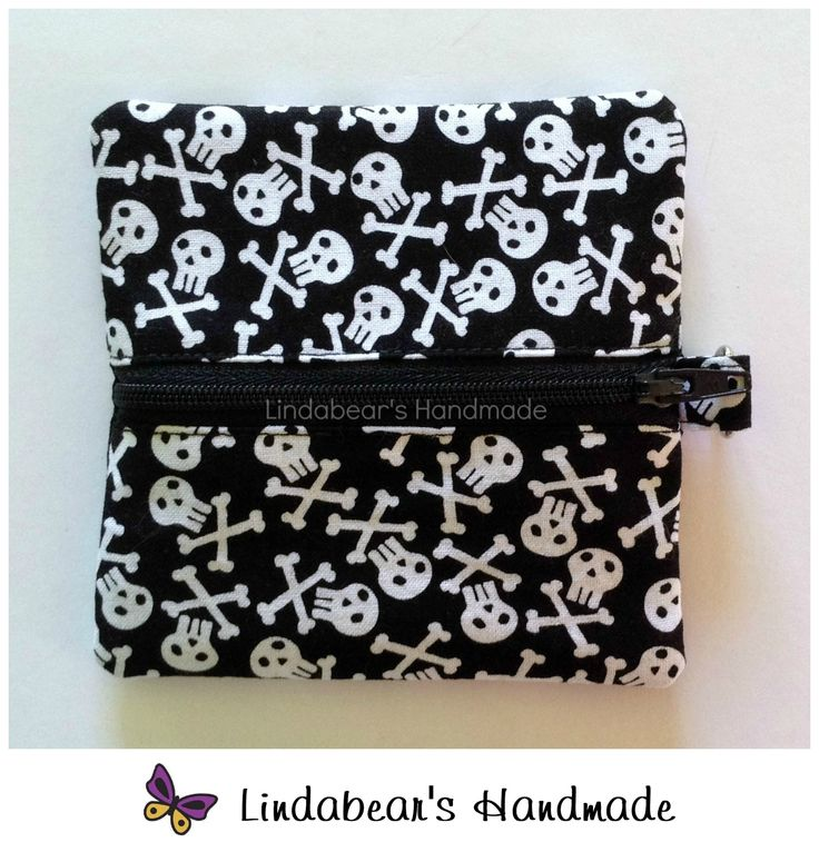 Made by Lindabears Handmade Black Pirate Coin Pouch For more information, please visit https://www.facebook.com/HandmadeMarkets
