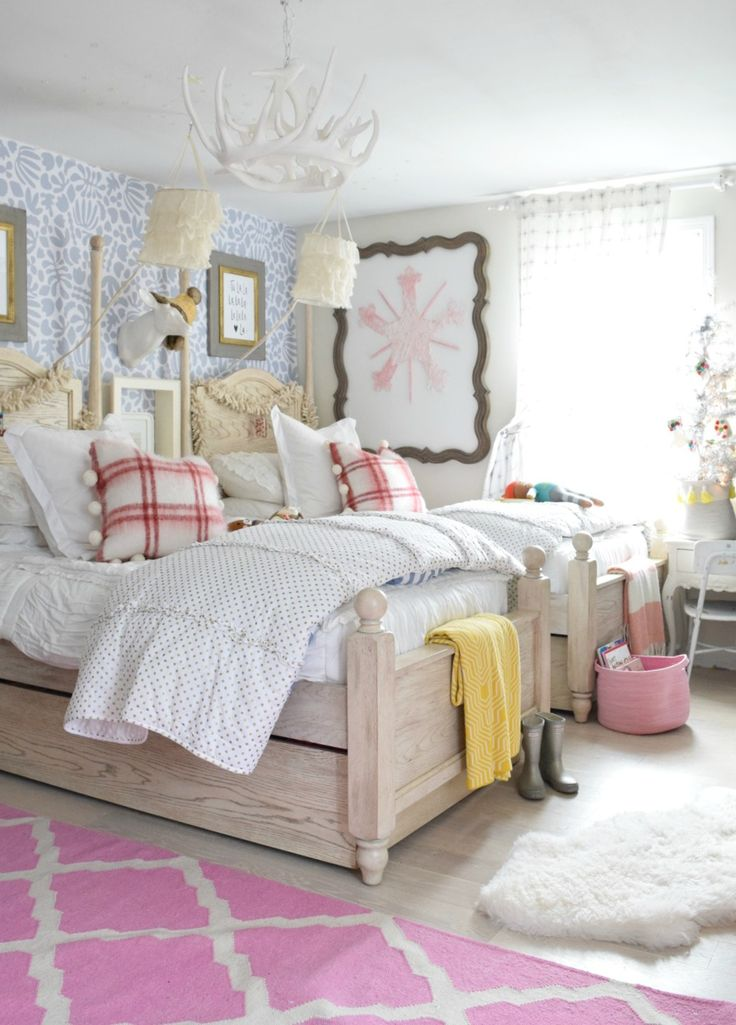 Christmas Home Tour  Part III. Girls Shared BedroomsKid ...