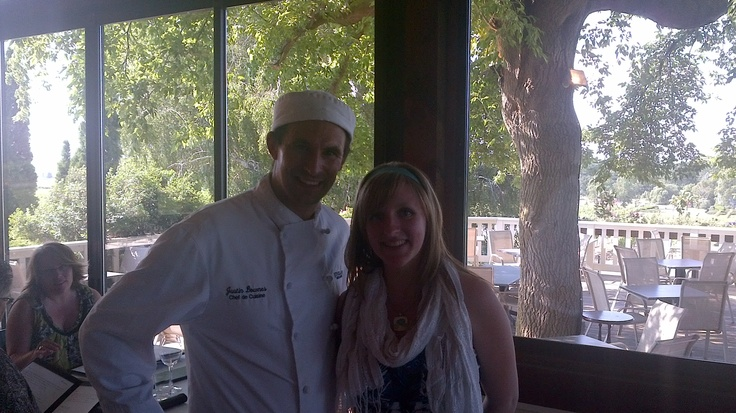 Executive Chef Justin Downes and Shannon Knoblauch at Vineland Estate Winery Restaurant.