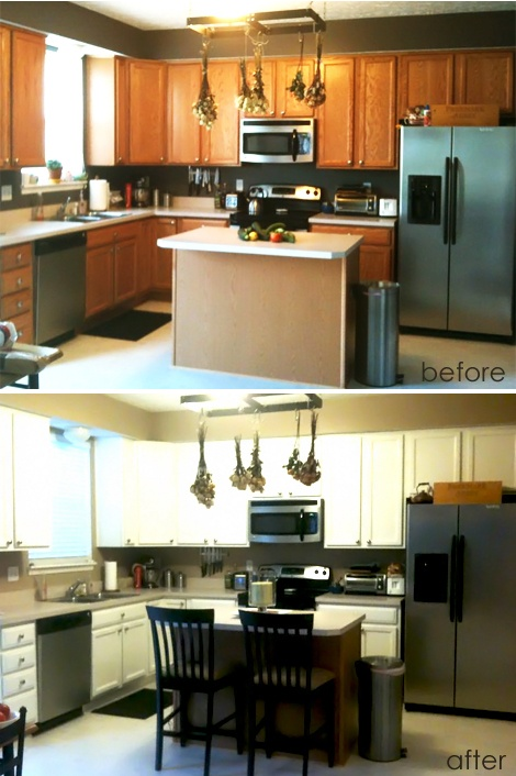 Diy morgan 39 s easy kitchen makeover diy projects pinterest kitchens house and kitchen - Easy cheap kitchen makeovers ...