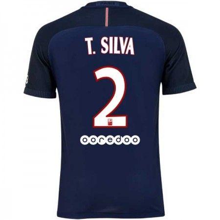 Paris Saint Germain PSG 16-17 #Thiago Silva 2 Hemmatröja Kortärmad,259,28KR,shirtshopservice@gmail.com