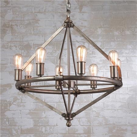 105 best chandelier images on pinterest chandeliers contemporary lauren by ralph lauren industrial pipe chandelier 8 light an industrial modern twist this aloadofball Choice Image