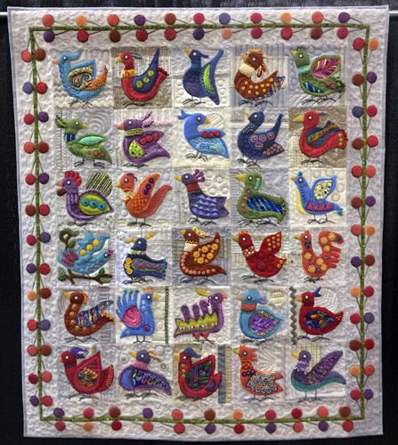 Whacky Traveling Birds by Barbara Khan at World Quilt Florida