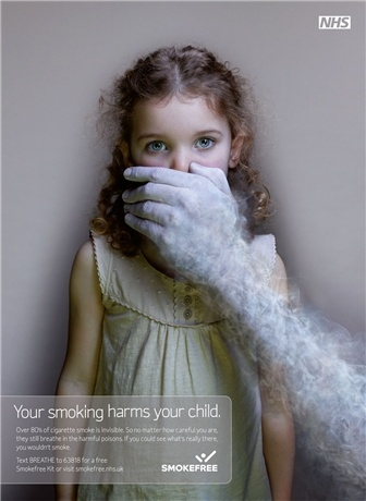 Department of Health 'secondhand smoke' by Dare