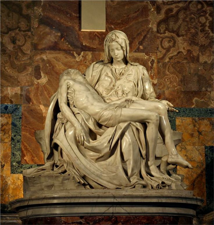 """Someday I want to look at Michelangelo's """"Pieta"""" (1499) with my own eyes....Easily one of the most beautiful pieces of art ever created...."""