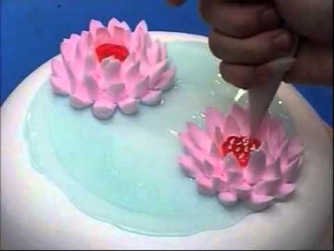 Украшение тортов Лебеди (Decorating cakes) - YouTube