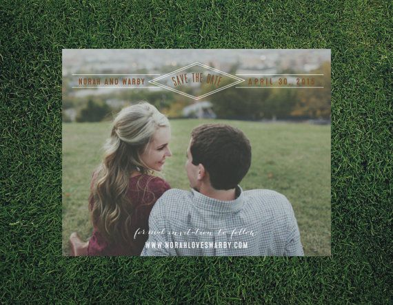 $100.00 for 50 Modern Magnetic Wedding Save the Dates // by blacklabstudio on Etsy