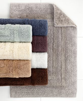 Hotel Collection Cotton Reversible Bath Rugs, 100% Cotton, Only at Macy's