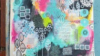Art journal video tutorial by Nathalie Keur - YouTube