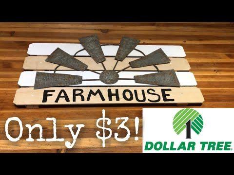DOLLAR TREE FARMHOUSE DIY || FARMHOUSE WINDMILL DE…