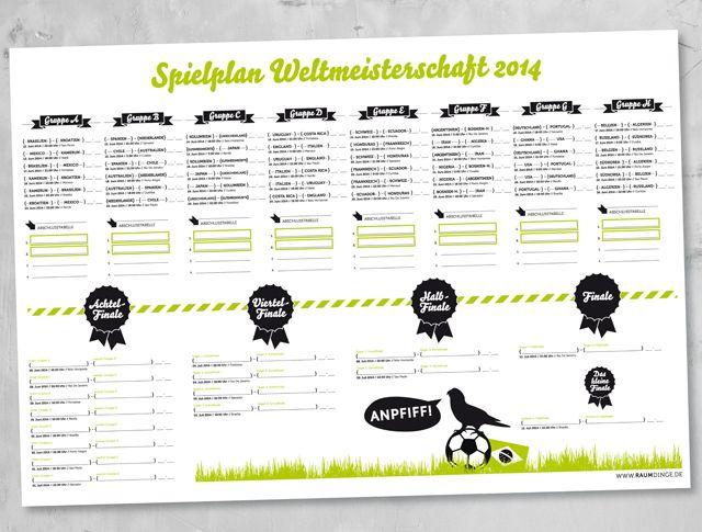 raumdinge: Das WM-Fieber steigt: WM-Plan zum Download