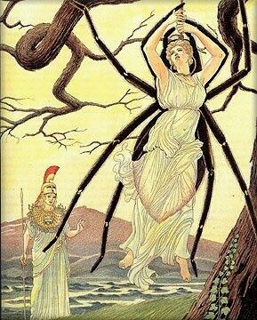 Read the myth about Arachne, who was transformed into a spider by Athena after weaving a work showing gods' and goddesses' tricking humans. Who do you think really won, Athena or Arachne?