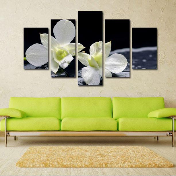 #Tablouri_canvas din 5 piese: 1 buc x 30 x 90 cm.2 buc. x  30 x 70 cm.2 buc. x 30 x…