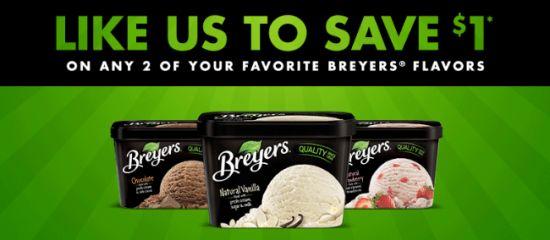 $1/2 Breyers Ice Cream coupon
