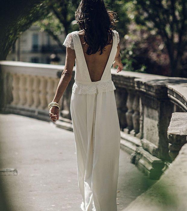 Robe de mariée longue - Laure de Sagazan, modèle Vian, prix sur demande