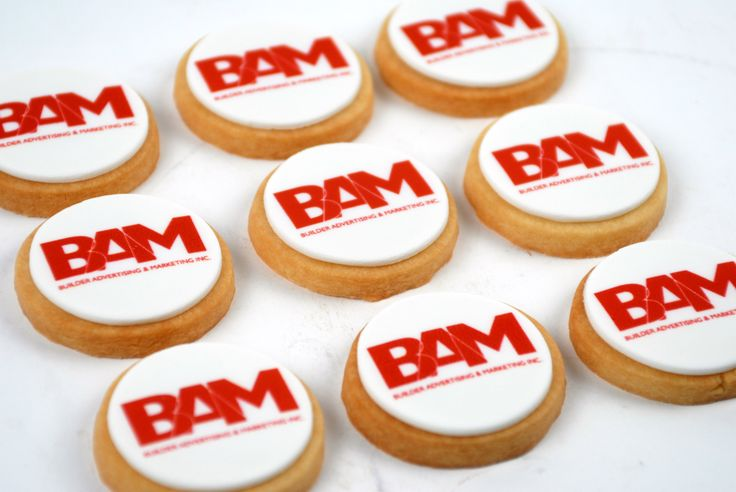 "Mini shortbread logo cookies. Just enough to be bite size! They are 2"" of melt in your mouth goodness."