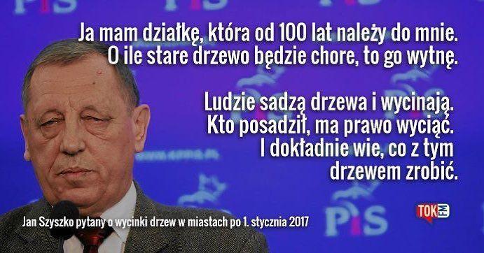 Minister #Szyszko. I co Wy na to? #TOKFM #eko #eco #środowisko #polityka #cytaty #radio #PiS #prawoisprawiedliwość #TOKFM