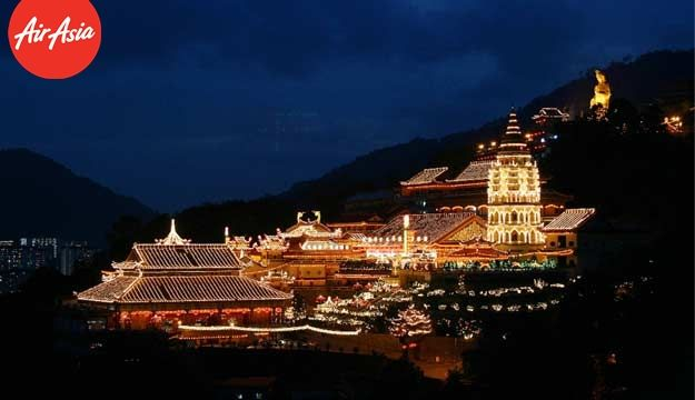 The night view of Kek Lok Si Temple