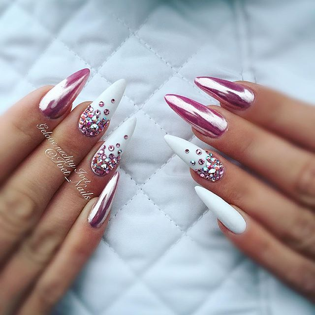 17 best ideas about stiletto nails on pinterest stiletto nail designs acrylic nails stiletto Fashion style and nails facebook