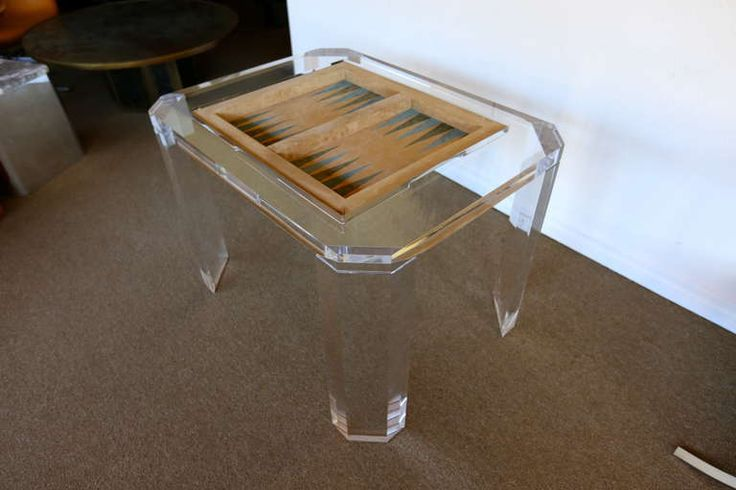 Lucite Backgammon Game Table by Charles Hollis Jones | From a unique collection of antique and modern game tables at http://www.1stdibs.com/furniture/tables/game-tables/