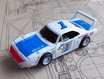 Tyco Plymouth Superbird Roger McCluskey USAC Stock Car HO Slot Car REFINISHED - http://hobbies-toys.goshoppins.com/slot-cars/tyco-plymouth-superbird-roger-mccluskey-usac-stock-car-ho-slot-car-refinished/