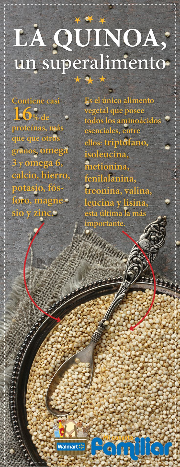 ¡Agrega #quinoa a tus platillos! Es un #superalimento por sus grandes propiedades nutricionales.