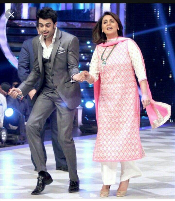 Manish paul with ranbir kapoors mom