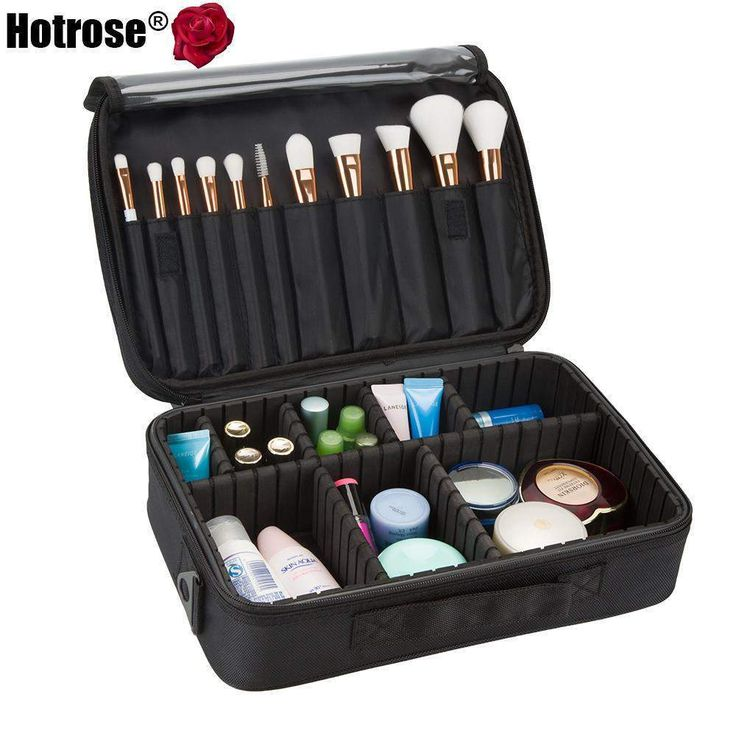 buy on wallmart.win Hotrose Professional Makeup Brush Case 3 Layers Cosmetic Beauty Artist Organizer Makeup Suitcase Large Space with…