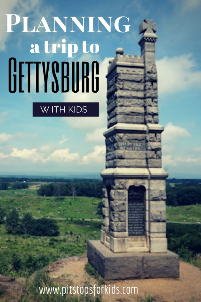 Gettysburg National Military Park with kids: how to plan your trip - Pitstops for Kids #familytravel