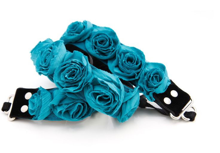 $75 Turquoise Organza Camera Strap by Capturing Couture