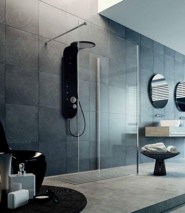 #Katana di @glass1989   è la sintesi del #design  al servizio del tuo piacere e benessere. Regalati momenti di puro #relax nell'avvolgente atmosfera di una doccia calda. -  www.gasparinionline.it -  #home #wellness #homestyle #interiors #arredare #bagno #doccia #shower #ideas