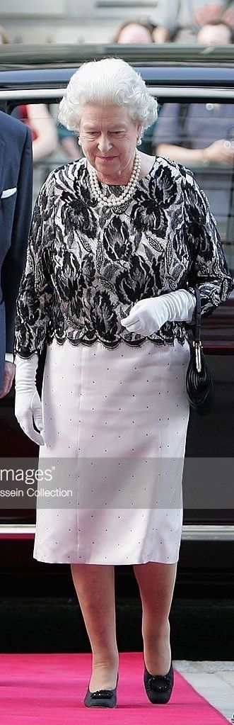 Queen Elizabeth II and The Duke of Edinburgh arrive at a Royal Gala at the Royal Opera House in London June 8, 2006, to celebrate her 80th birthday and the 75th anniversary of the Royal Ballet.